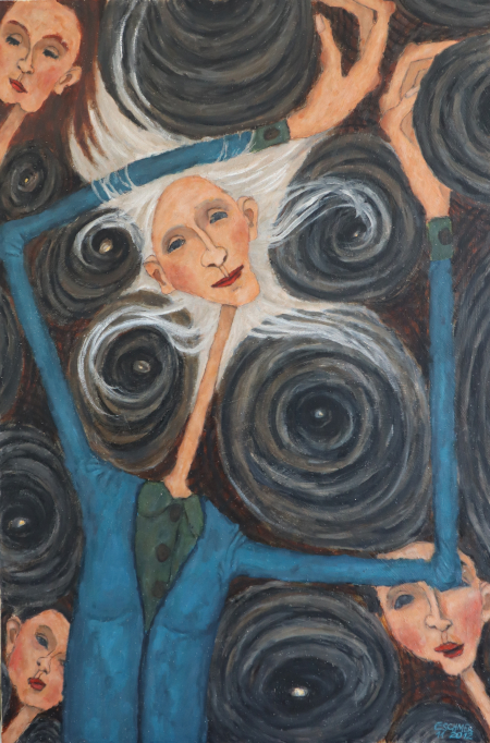 woman-with-white-hair-whirling-around